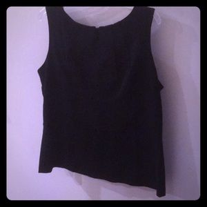 NWT CAbi Fitted Black Top Sz 16